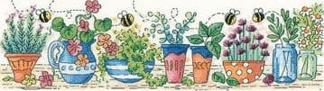 Heritage Crafts Karen Carter Collection Cross Stitch Kit - Herb Garden