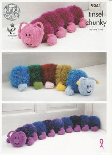 King Cole Tinsel Centipede Knitting Pattern 9041