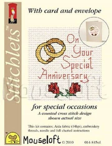 Mouseloft Stitchlets  On Your Special Anniversary