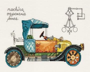 Panna Clockwork Vehicle Cross Stitch Kit