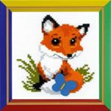 Riolis Cross Stitch Kit. LITTLE FOX. Suitable for kids or beginners.