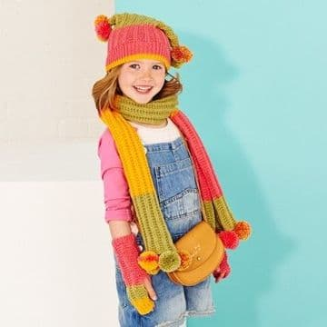 Stylecraft Accessories Knitting Pattern 9415, to fit 4 to 12 years