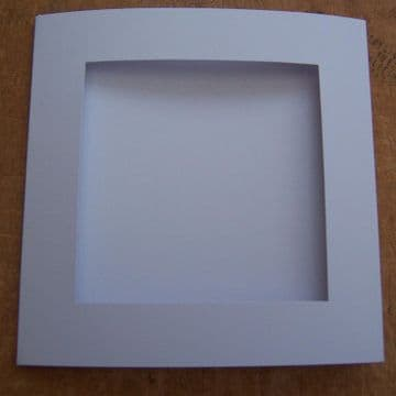 White  SQUARE Aperture Cards 144 x 144 mm/ 5.5 X 5.5 inches with envelopes
