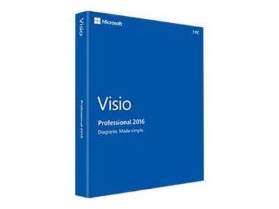 Microsoft Visio 2016 Pro 3 pc's - Download -