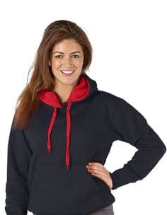 Adult  Ultimate Contrast Black / Red Hoodie - Design Your Own from