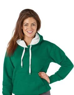 Adult  Ultimate Contrast Kelly Green / White Hoodie - Design Your Own from