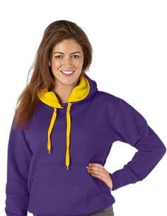 Adult  Ultimate Contrast Purple / Sunflower Hoodie - Design Your Own from
