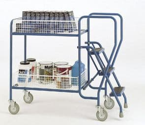 3 Step Removable wire basket Trolley