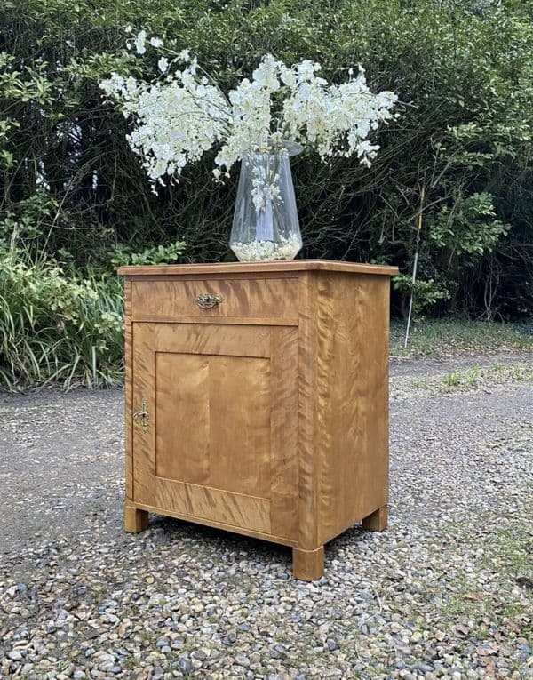 Antique French Walnut Art Deco Style Large Pot Cupboard Sideboard Hall Table