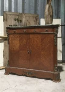 Vintage French  Ormolu Marquetry Cabinet Linen Cupboard