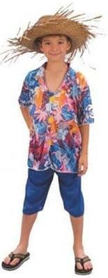 Boys Hawaiian Tourist Costume