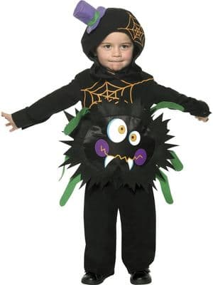 Toddlers Fancy Dress   Crazy Spider Costume