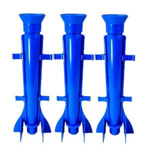 Candle Mould Long Tapered Rocket Shape, Set x 3, 9.5