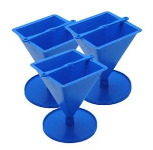 Candle Mould Pyramid Shape with Stand, Set x 3, 4