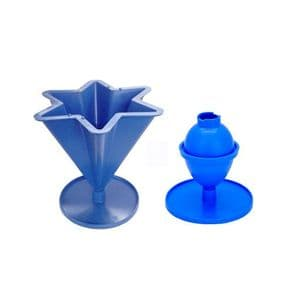 Candle Mould Set x 2, 1 x 6 Pointed Star Mould & 1 x Egg/Oval Shaped Mould. S7691