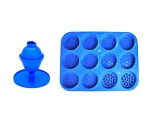 Candle Mould Set x 2, 1 x Egg/Oval Shape & 1 x Easter Spring Wax Melt Tray. S7837