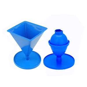 Candle Mould Set x 2, 1 x Pyramid & 1 x Egg/Oval Shaped. S7692