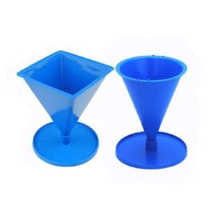 Candle Mould Set x 2, 1 x Pyramid and 1 x Cone Shaped. S7683