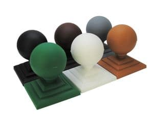 Fence Finial, Round/Sphere Shape &  3