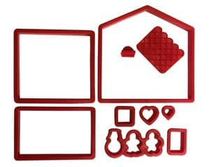 Gingerbread House Cookie Cutter Set, Swiss Cottage. S7878