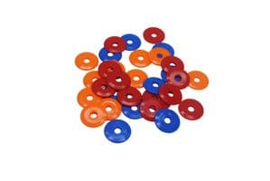 High Impact HDPE Plastic Discs / Penny Washers, 25mm Dia,  S7840