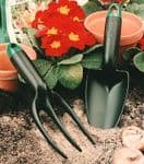 Linic Products UK Made Garden Trowel and Fork. Lightweight and Sturdy with a Comfy Grip. X1186