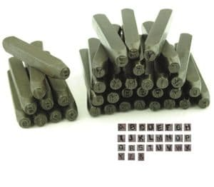 Metalwork Letter and Number Stamp Set, UPPERCASE, 36 Piece, 8mm, Letter A-Z & Number Set. M9122