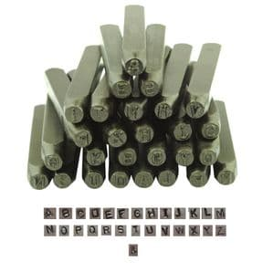 Metalwork Letter Stamp Set, UPPERCASE, CAPITAL, 27 Piece, 2mm. M0850
