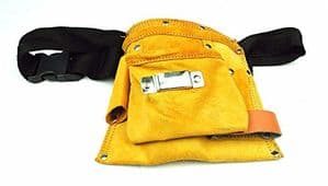 Pocket Tool Pouch & Belt, Suede Leather Pocket. Jewellers, Cobblers, DIY, Crafts. X7533