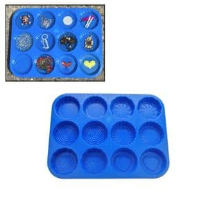 Resin Mould Mold Tray, Makes 12, Heart, Flower, Swirl Design etc. Casting, Craft, Decorative. S7749