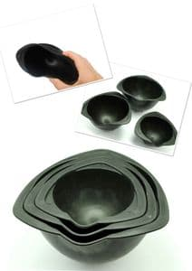 Rubber Investment Mixing Bowl, Set of 3,  90mm, 115mm, 135mm. Wax casting,  jeweller, cast. S7362