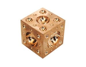 Solid Brass Doming Dapping Forming Block 25mm Jewellers Tool. M0032