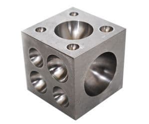 Solid Steel Doming Dapping Block, 2.5