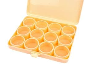 Storage Box with 12 Clear Lid Compartments. Ideal for the storage of beads, jump rings etc.