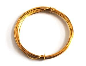 WIRE. Gold Plated Wire, 1.2mm x 3m. X1123