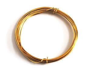 WIRE. Gold Plated Wire 1mm x 4m.  X1105