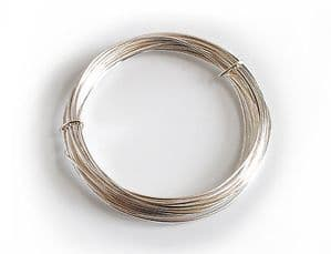 WIRE. Silver Plated Wire, 0.8mm x 6m. X1108
