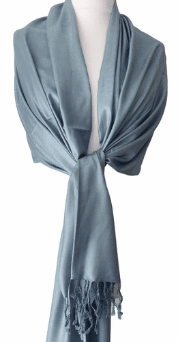 Blue Pashmina Wrap Ladies Fair Trade Oversized Scarf Light blue Shawl Wedding Bridesmaids Prom