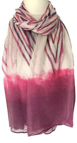 Pink Scarf Ladies Purple Striped Chevrons Large Stripes Wrap Maroon Stripy