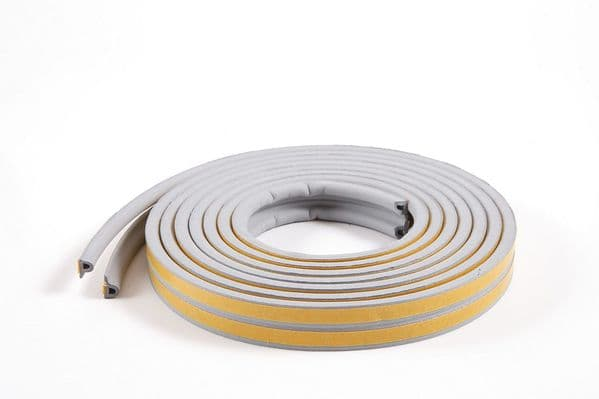 10m P-profile Grey Colour Draught Excluder