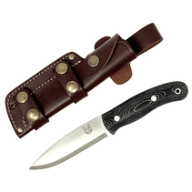 Mk II TBS Boar Bushcraft Knife - Black Micarta - Multi Carry Sheath