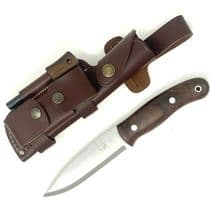 Mk II TBS Boar Bushcraft Knife - DC4 & TBS Firesteel Edition - Turkish Walnut