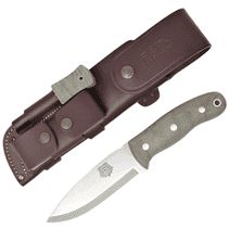 TBS Grizzly Bushcraft Survival Knife - Military Model - Full Cover Multi Carry Sheath