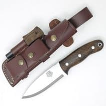 TBS Grizzly Bushcraft Survival Knife - Turkish Walnut - DC4 & TBS Firesteel Edition