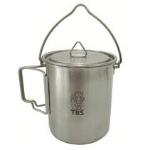 TBS Outdoor 750ml Stainless Steel Pot/Canteen Pot with Bail Handle